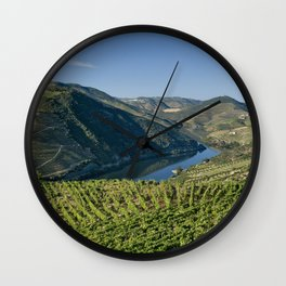 Vineyards in the Douro Valley, Portugal Wall Clock