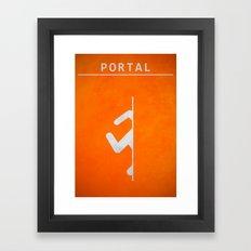 Minimal Portal Orange Framed Art Print