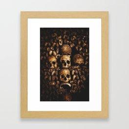 The catacombs of Paris Framed Art Print