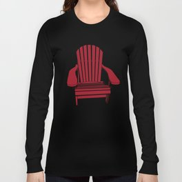 Sit back and relax in the Muskoka Chair Long Sleeve T-shirt