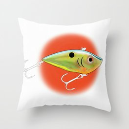 somethin' fishy  Throw Pillow