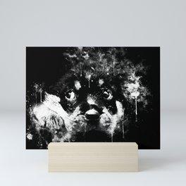 rottweiler puppy dog ws bw Mini Art Print