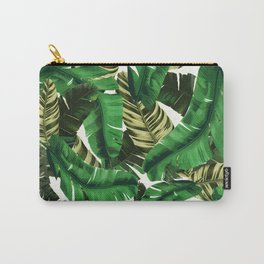 Swaying banana leaf palm green Carry-All Pouch