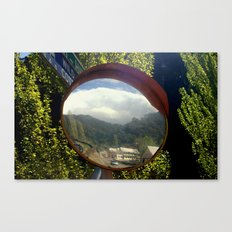 A town within a Bubble Canvas Print