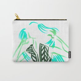 Little Striped Dress - Turquoise Palette  Carry-All Pouch