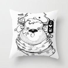 Little Lovely Reindeer Throw Pillow