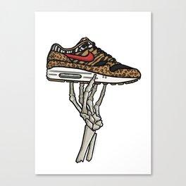 Air Max 1 Animal Skeleton Sneaker Art Canvas Print
