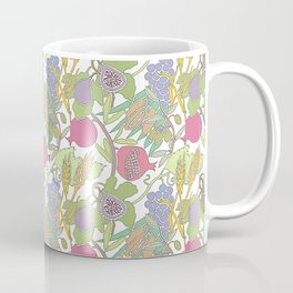 Seven Species Botanical Fruit and Grain with Pastel Colors Coffee Mug