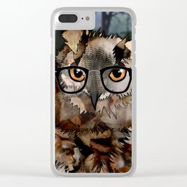 Owl's Good in the Woods Clear iPhone Case