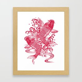 Red Koi Framed Art Print