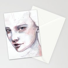 Frozen, quick watercolor portraiture Stationery Cards