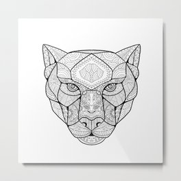 Black Panther Zentagle Metal Print