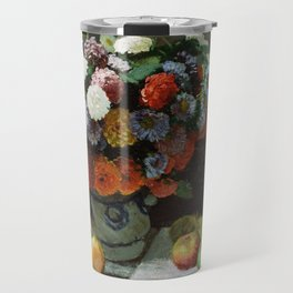 Claude Monet - Still Life with Flowers and Fruit Travel Mug