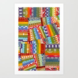 rainbow quilt Art Print