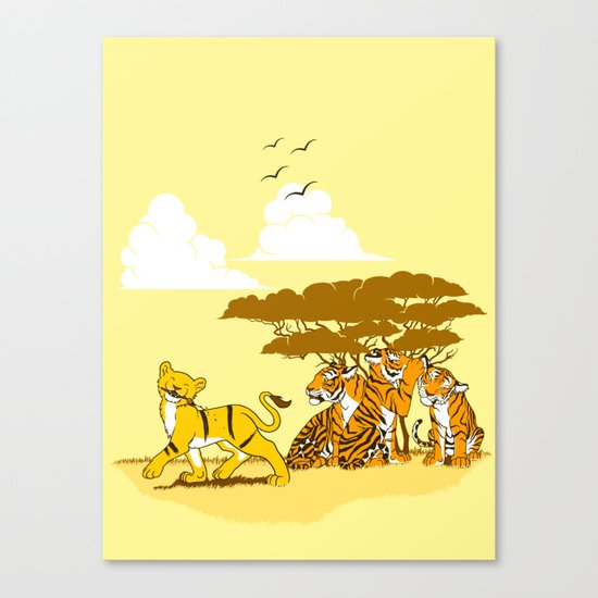 Copy Cat Canvas Print