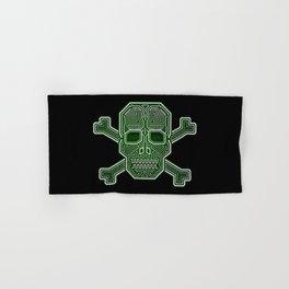 Hacker Skull Crossbones (isolated version) Hand & Bath Towel