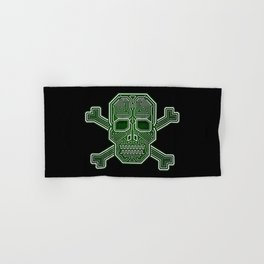 Hacker Skull Crossbones (isolated version) Hand & Bath Towel