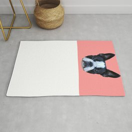 Frenchie / Boston Terrier // Pink Rug