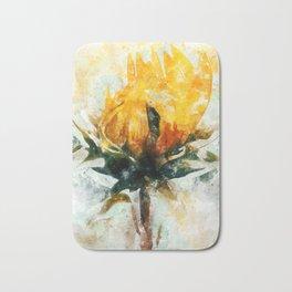 Born in Sunflower Bath Mat