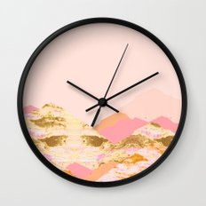 Graphic Mountains S Wall Clock