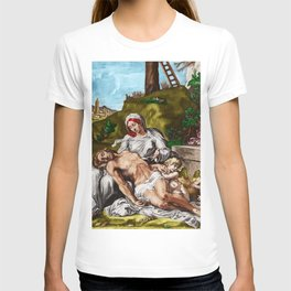 """""""And so it is"""" - The Death of Jesus Landscape Painting by Jeanpaul Ferro T-shirt"""
