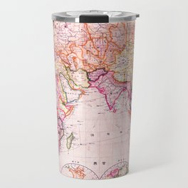 Vintage Map Pattern Travel Mug