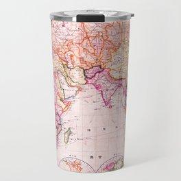 Vintage Map Pattern Travel Mug