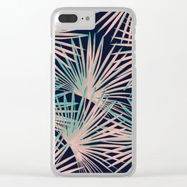 Tropical Fan Palm Leaves #5 #tropical #decor #art #society6 Clear iPhone Case