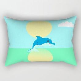 Dolphin - minimal Rectangular Pillow