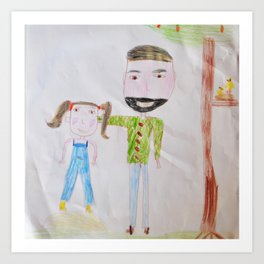Me and my daddy Art Print