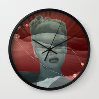 diamonds Wall Clocks featuring diamonds by Rosa Picnic