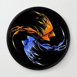 Phoenix Ice And Fire Wall Clock