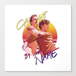 Call Me By Your Name Retro Sunset Canvas Print