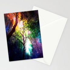 rainbow rain Stationery Cards