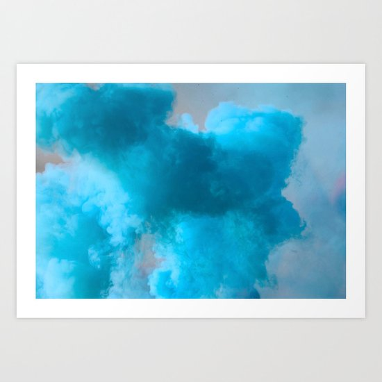 Blue smoke Art Print
