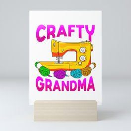 Crafty Grandma Sewing Machine Gift Idea For Grandmother Mini Art Print