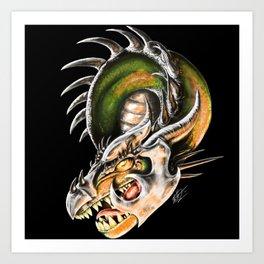Armored Dragon Art Print
