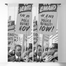 We Demand An End To Police Brutality! - 1965 Blackout Curtain