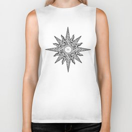 Surf in a Windrose – Compass (tattoo style) Biker Tank
