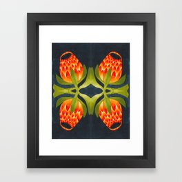 Floral symmetry 1. Framed Art Print