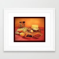 baking Framed Art Prints featuring Baking Cookies by Bebop's Place