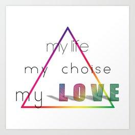 Love Pyramid Art Print