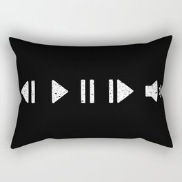 White Music Controls Rectangular Pillow