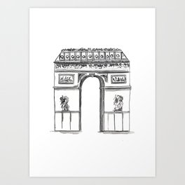 Arc De Triomphe Sketch no. 2 Art Print