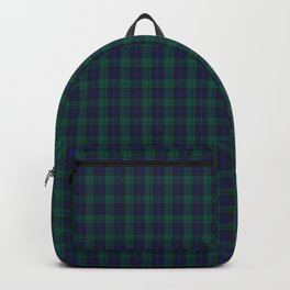 Blue & Green Small Plaid Backpack