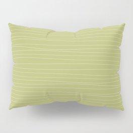 Horizontal White Stripes on Light Green Pillow Sham