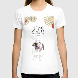 Year of the Dog - White Labrador T-shirt
