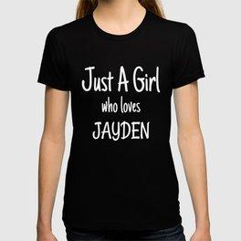 Funny Just A Girl Who Loves Jayden design T-shirt