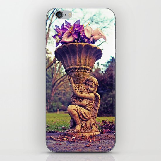 Graveyard statue iPhone & iPod Skin