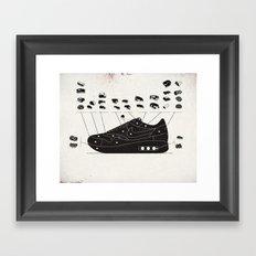 MAX100 / 004: Cuts Framed Art Print